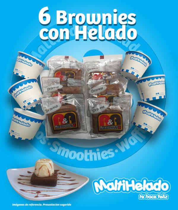 Maltihelado - BROWNIES con helado x 6